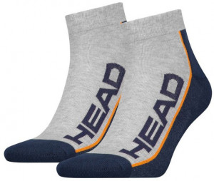 ТЕНИС ЧОРАПИ STRIPE QUARTER -2 PAIRS/781009001-870 grey/navy *HA*