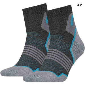 СПОРТНИ ЧОРАПИ HIKING QUARTER -2 PAIRS/781002001-418 grey/blue *HA*