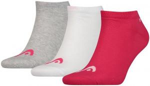 ТЕНИС ЧОРАПИ SNEAKER UNISEX -3 PAIRS/761010001-760 pink/grey *HA*