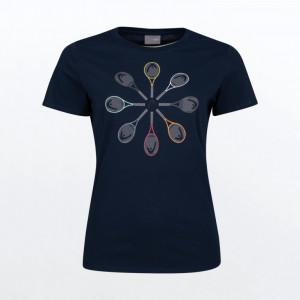 Тенис фланелка HEAD racquet t-shirt дамска / 814691-db