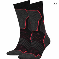 СПОРТНИ ЧОРАПИ HIKING CREW -2 PAIRS/781001001-232 black/red *HA*